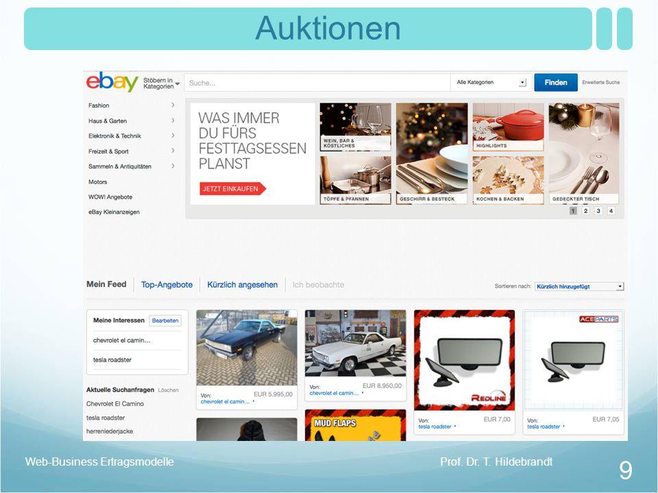 Auktionen Prof. Dr. T. HildebrandtWeb-Business Ertragsmodelle 9