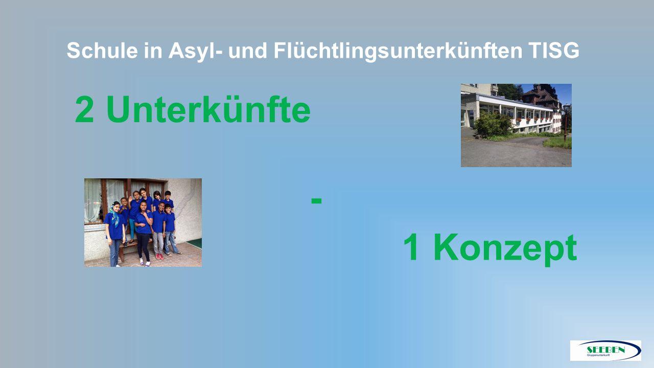2 Unterkünfte - 1 Konzept Schule in Asyl- und Flüchtlingsunterkünften TISG