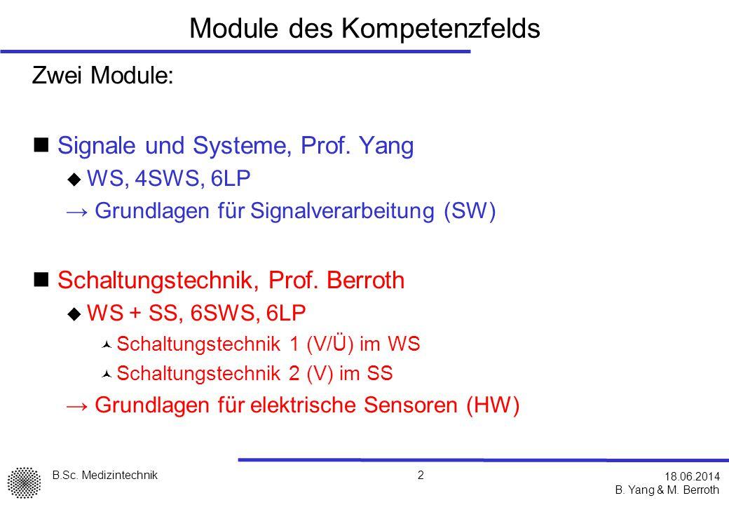 B.Sc.Medizintechnik B. Yang & M.