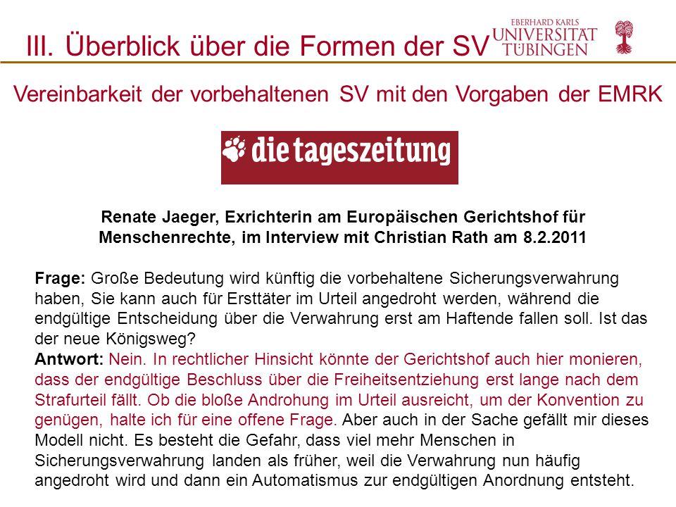 Renate Jaeger, Exrichterin am Europäischen Gerichtshof für Menschenrechte, im Interview mit Christian Rath am 8.2.2011 Frage: Große Bedeutung wird kün