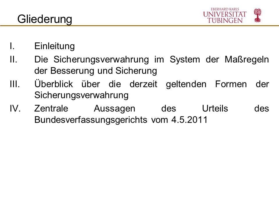 Beschränkung der nachträglichen SV zum 1.1.2011 Inhalt Nachträgliche Sicherungsverwahrung nach § 66b Abs.