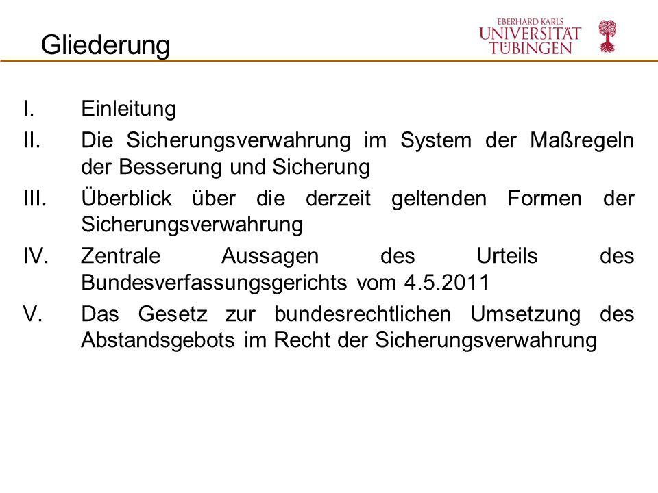 VI. Die Landesgesetzgebung Unterbringung in der SV (JVA Rosdorf)