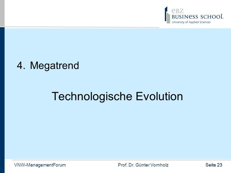 VNW-ManagementForumProf. Dr. Günter VornholzSeite 23 4.Megatrend Technologische Evolution