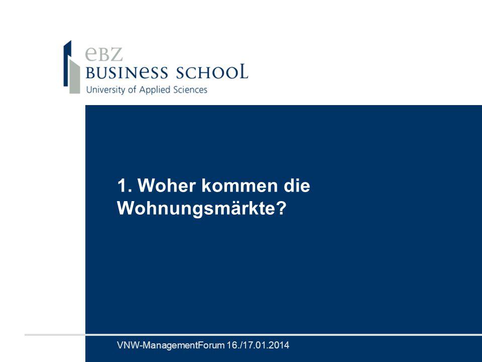 VNW-ManagementForumProf. Dr. Günter VornholzSeite 14 1.Megatrend BIP-Wachstumspotenzial