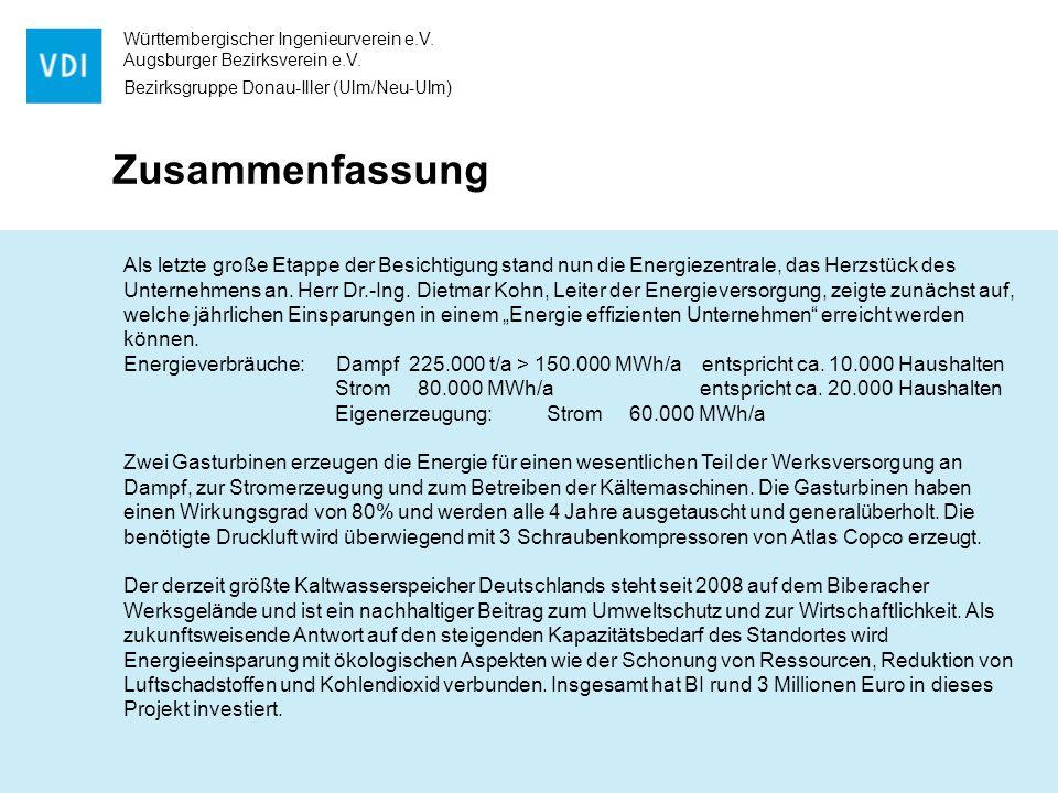 Württembergischer Ingenieurverein e.V. Augsburger Bezirksverein e.V.