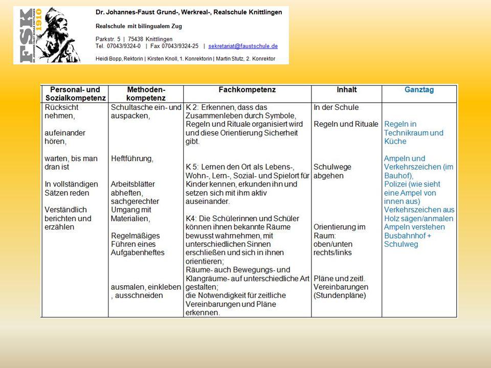 Kompetenzverteilungsplan MNK (exemplarischer Auszug Sommer bis Herbst)