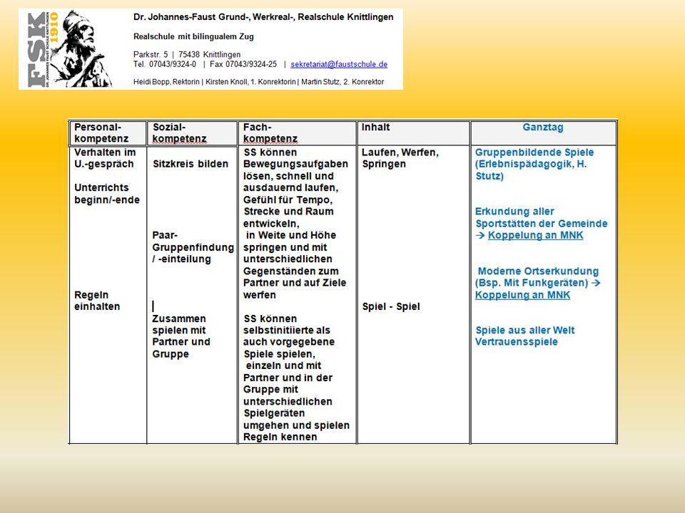 Kompetenzverteilungsplan BSS (exemplarischer Auszug Sommer bis Weihnachten)