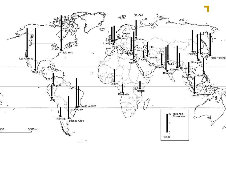 Die zehn größten Städte der Erde (1-5)