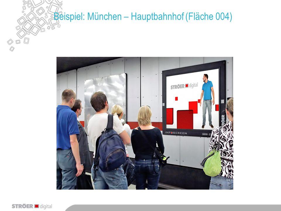 Beispiel: München – Hauptbahnhof (Fläche 004)