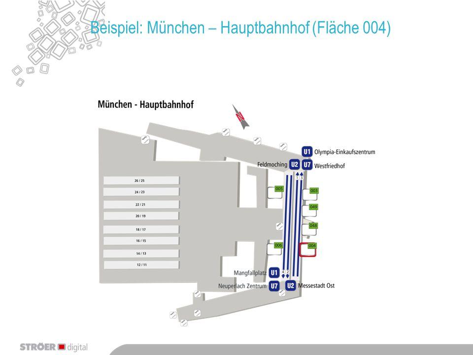 Beispiel: München – Ostbahnhof (Fläche 032)