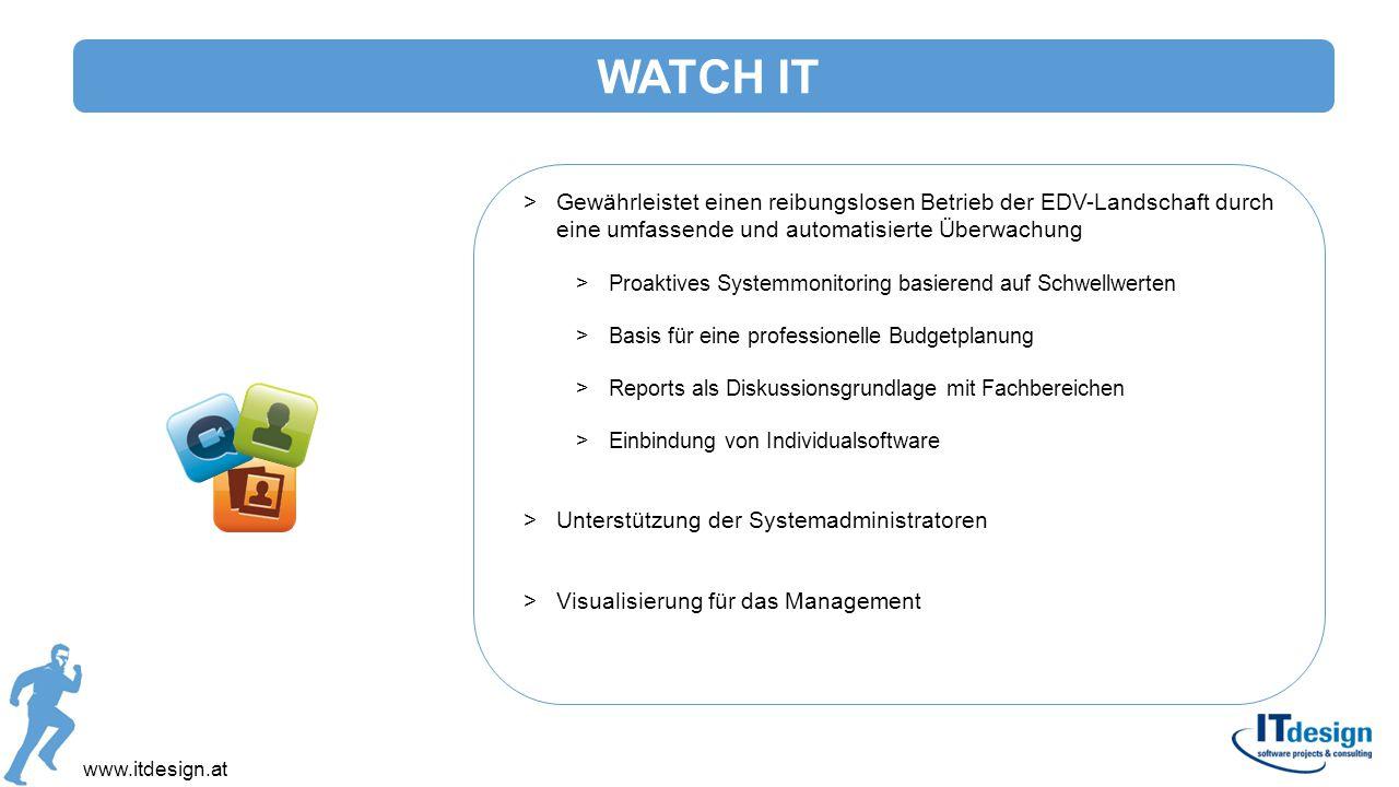 >Gewährleistet einen reibungslosen Betrieb der EDV-Landschaft durch eine umfassende und automatisierte Überwachung >Proaktives Systemmonitoring basier