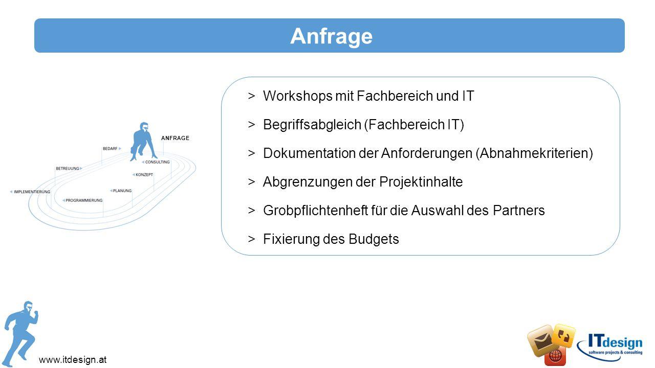 www.itdesign.at IT - Beratung Die Aufgaben der IT-Beratung: >Ziele entwickeln: Wann ist das Projekt erfolgreich.