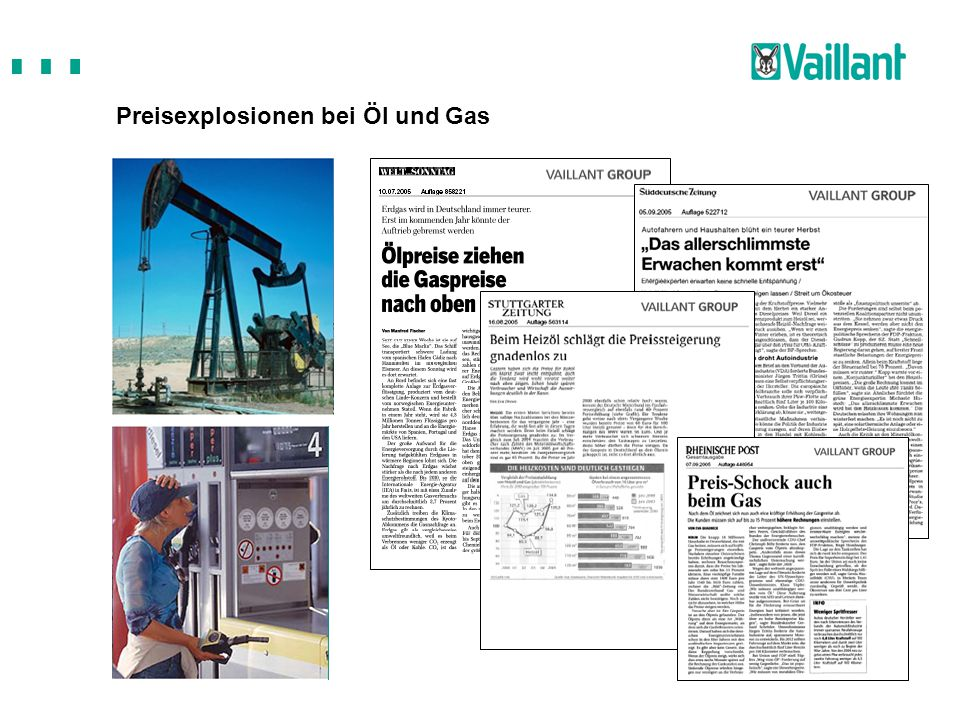 Preisexplosionen bei Öl und Gas