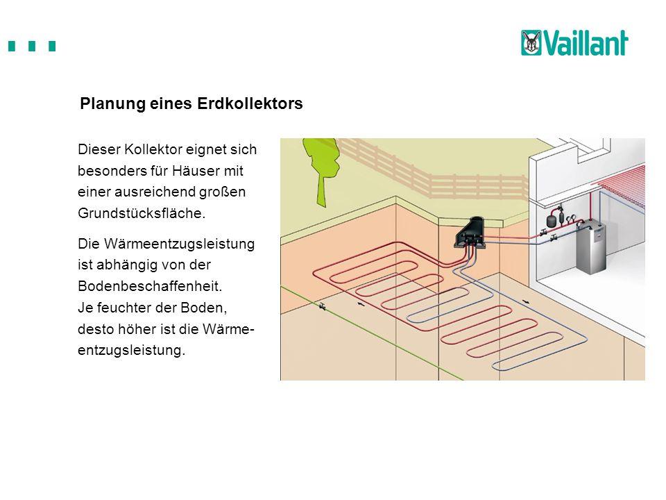 Planung eines Erdkollektors Dieser Kollektor eignet sich besonders für Häuser mit einer ausreichend großen Grundstücksfläche. Die Wärmeentzugsleistung