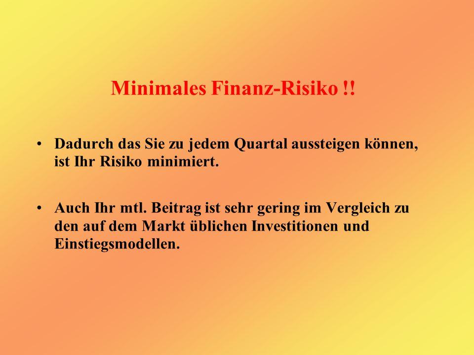 Minimales Finanz-Risiko !.