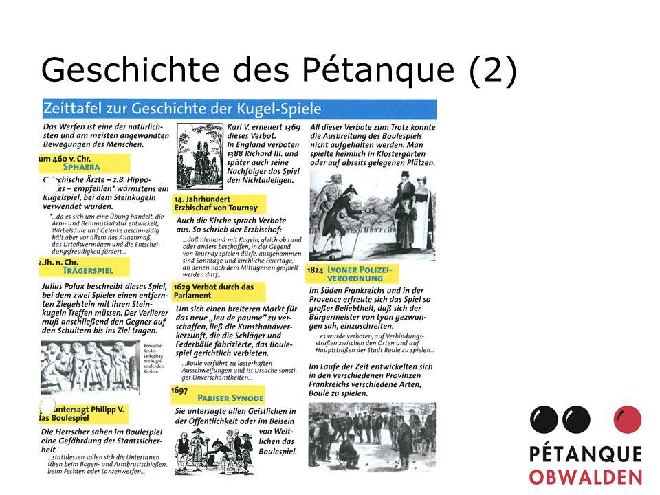 Geschichte des Pétanque (2)