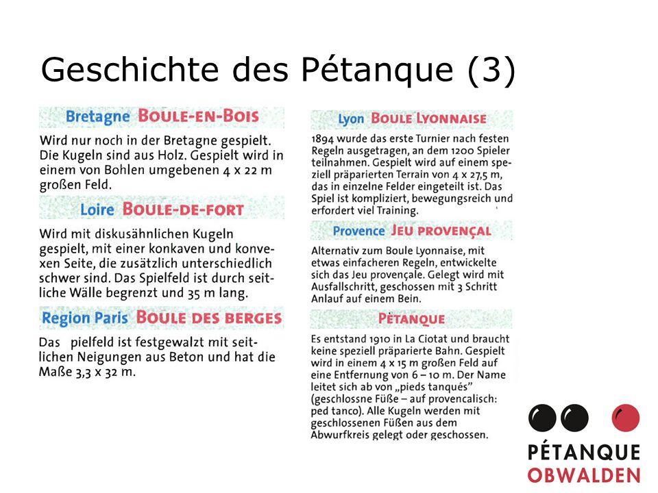 Geschichte des Pétanque (3)