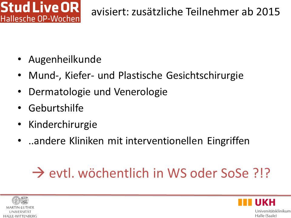 www.hallesche-op-wochen.de weitere Informationen www.facebook.com/hallescheOPWochen