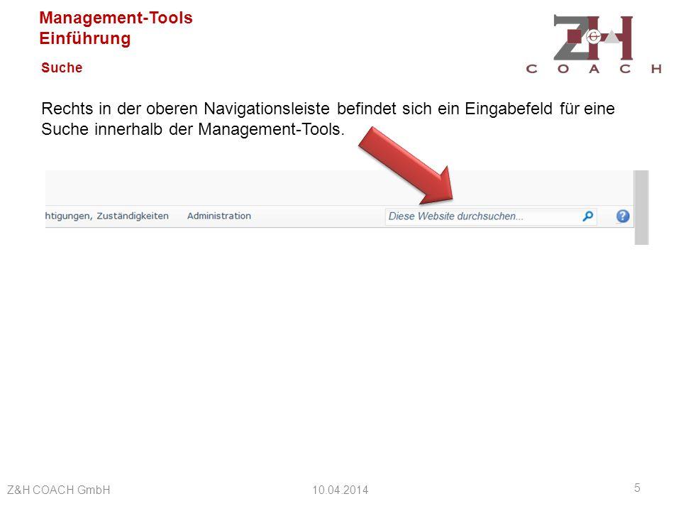 Management-Tools Einführung Benutzer Jeder Anwender erhält persönliche Zugangsdaten zur Anmeldung bei den Management-Tools.