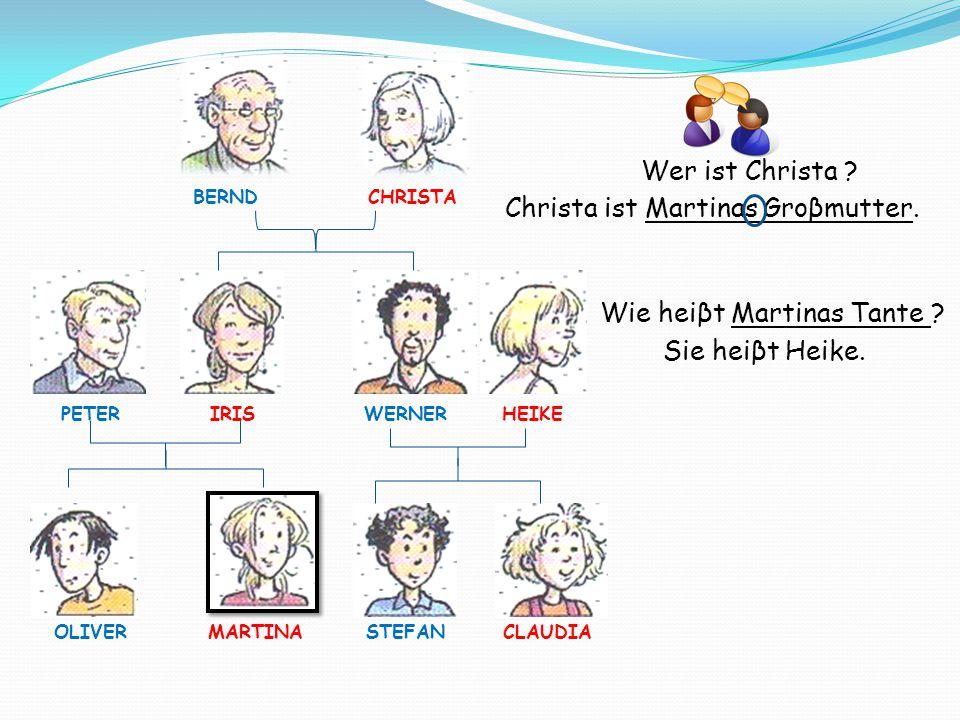 Stefans Vater heiβt Werner.SEIN Vater heiβt Werner.
