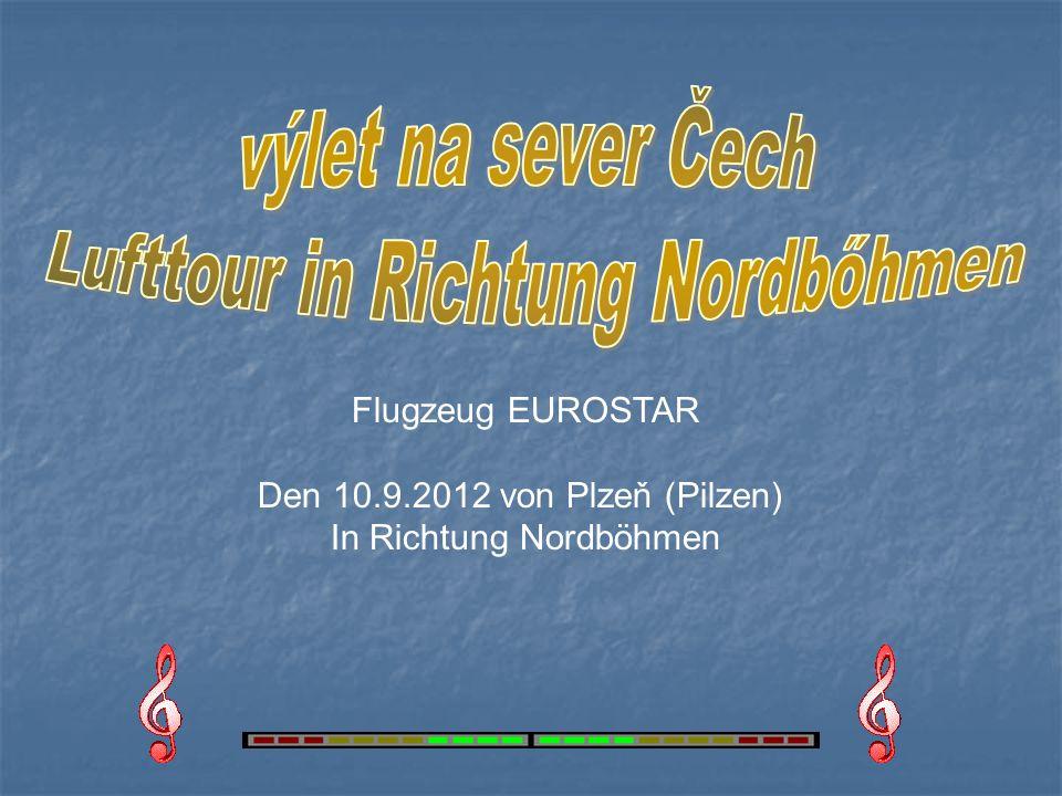 Flugzeug EUROSTAR Den 10.9.2012 von Plzeň (Pilzen) In Richtung Nordböhmen