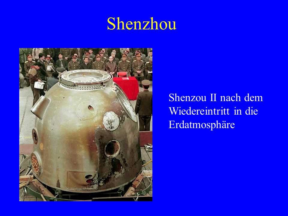 Shenzou II nach dem Wiedereintritt in die Erdatmosphäre