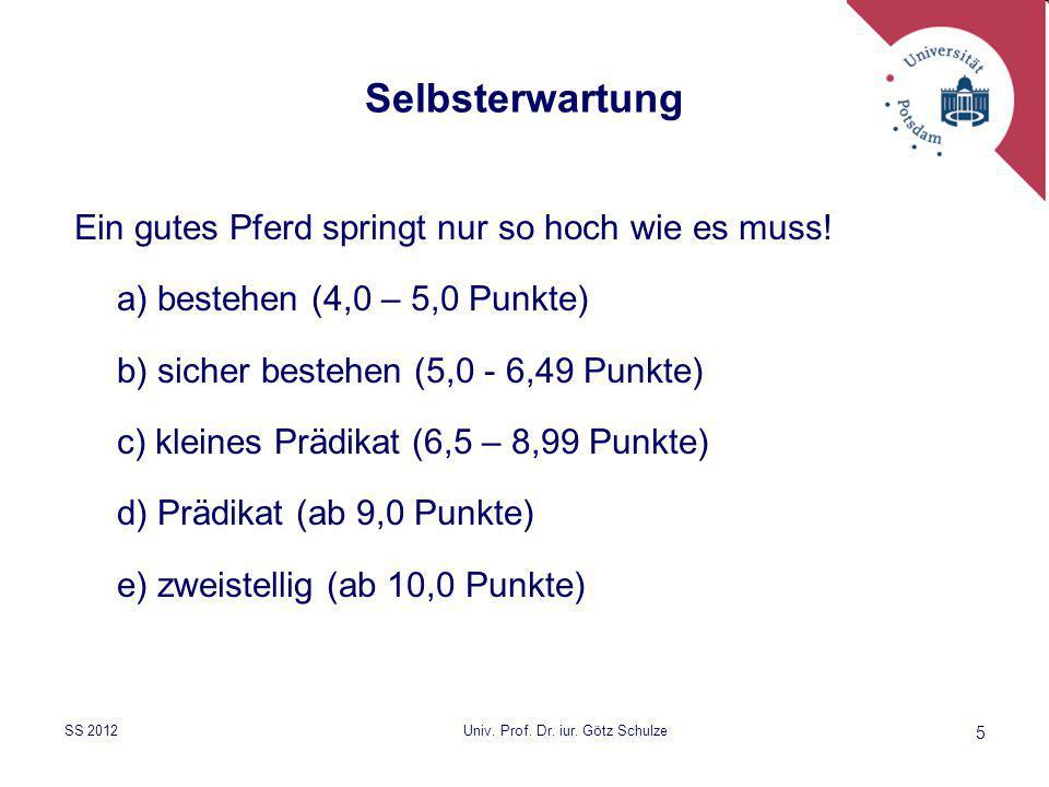26 Unabänderliche Faktoren Begabung Glück Tagesform Fleiß Aber: Anstrengung Kampfgeist (ohne Doping) Univ.