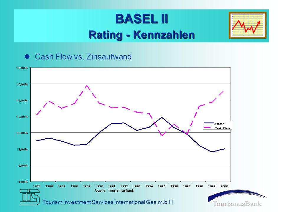 Tourism Investment Services International Ges.m.b.H BASEL II Rating - Kennzahlen Cash Flow vs.