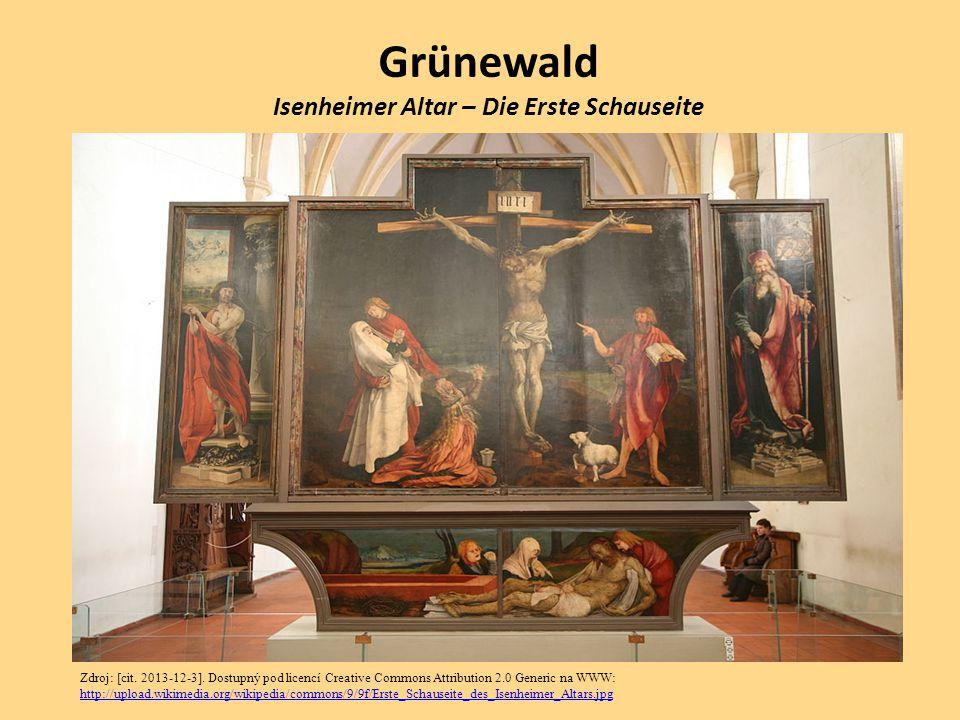 Grünewald Isenheimer Altar – Die Erste Schauseite Zdroj: [cit. 2013-12-3]. Dostupný pod licencí Creative Commons Attribution 2.0 Generic na WWW: http: