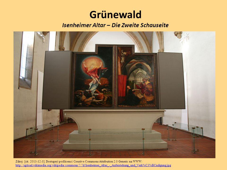 Grünewald Isenheimer Altar – Die Zweite Schauseite Zdroj: [cit. 2013-12-3]. Dostupný pod licencí Creative Commons Attribution 2.0 Generic na WWW: http