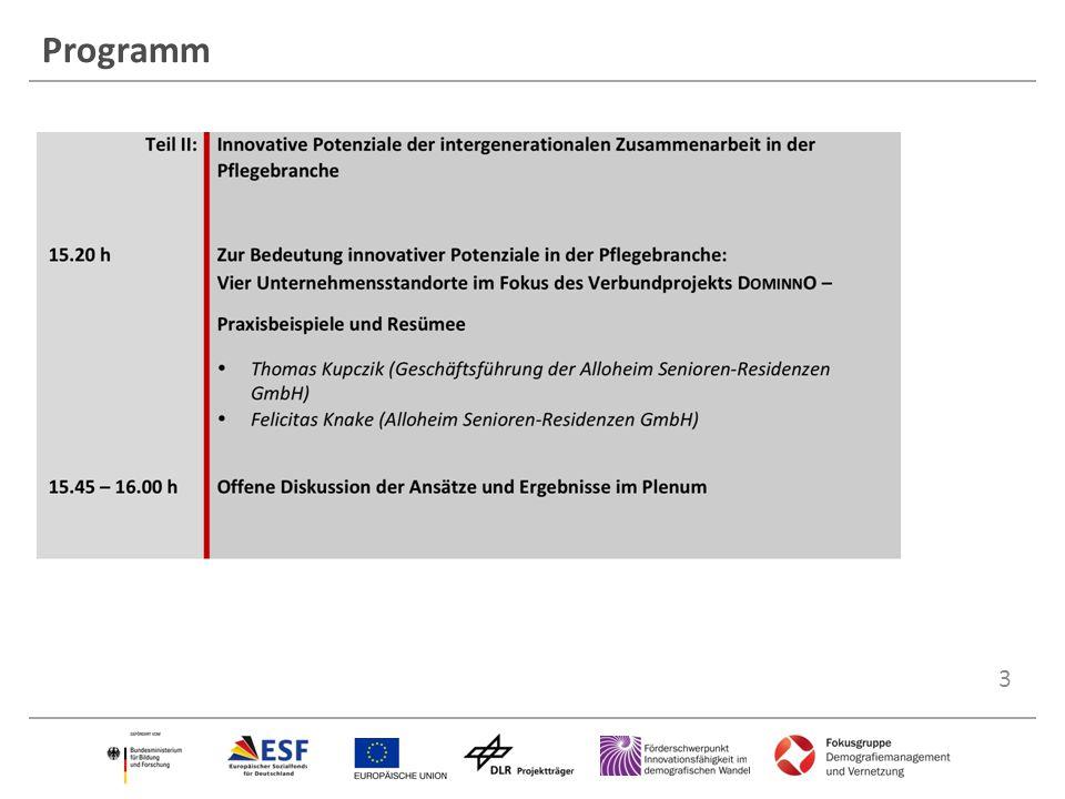 4 Teil I Verbundprojekte: Soziale Innovationen in Pflege und sozialer Arbeit fördern: Kommunikation, Wertschätzung, Zusammenarbeit