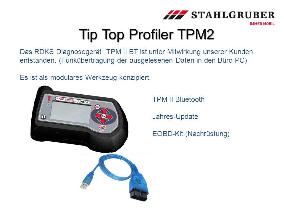 Tip Top Profiler TPM2 TPM II Bluetooth Jahres-Update EOBD-Kit (Nachrüstung) Das RDKS Diagnosegerät TPM II BT ist unter Mitwirkung unserer Kunden entst