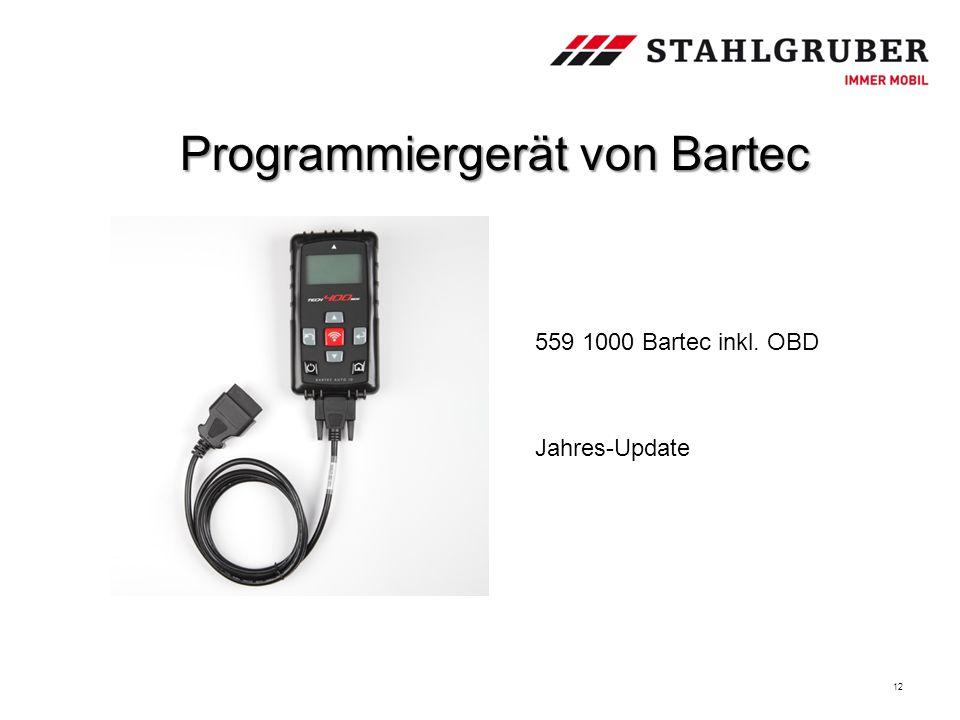 12 Programmiergerät von Bartec 559 1000 Bartec inkl. OBD Jahres-Update