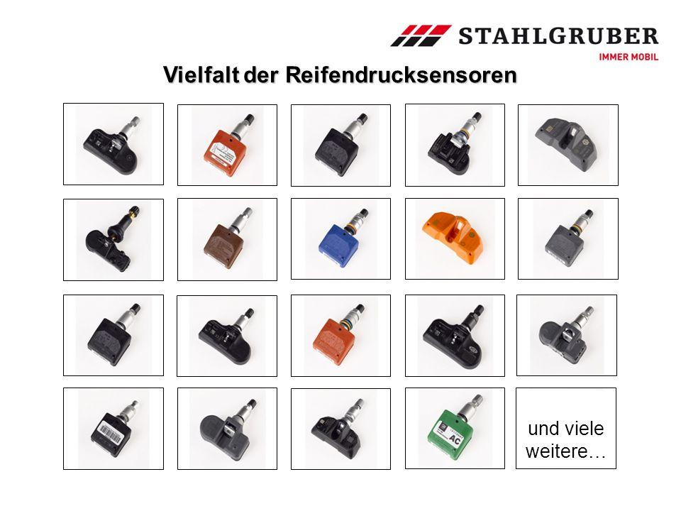und viele weitere… Vielfalt der Reifendrucksensoren