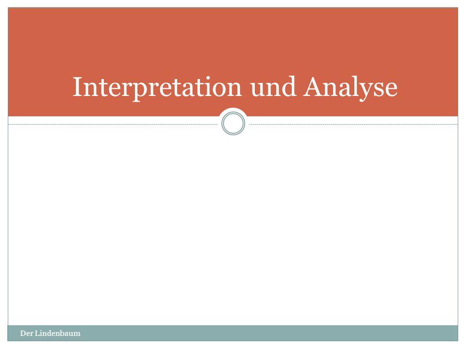 Der Lindenbaum 7 Interpretation und Analyse