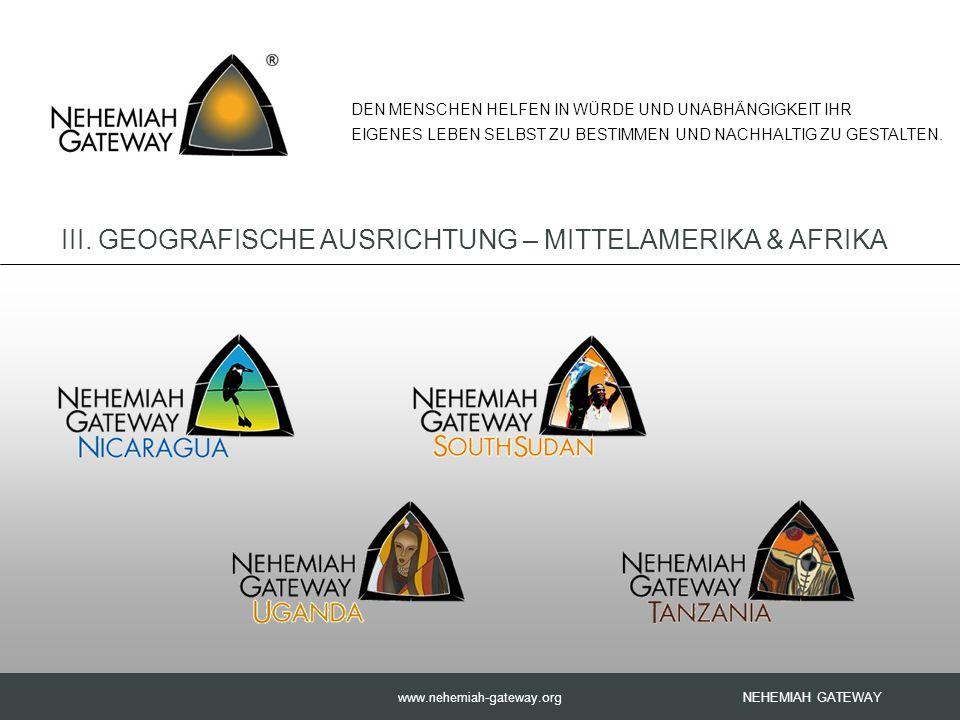 www.nehemiah-gateway.org NEHEMIAH GATEWAY DEN MENSCHEN HELFEN IN WÜRDE UND UNABHÄNGIGKEIT IHR EIGENES LEBEN SELBST ZU BESTIMMEN UND NACHHALTIG ZU GESTALTEN.