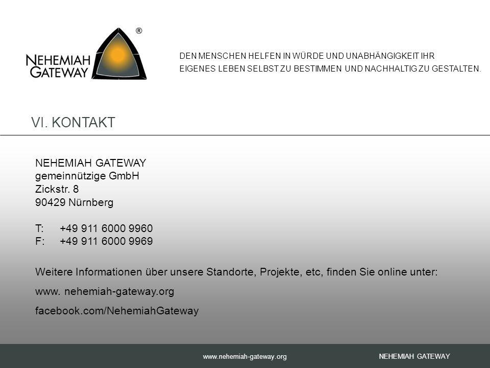 www.nehemiah-gateway.org NEHEMIAH GATEWAY gemeinnützige GmbH Zickstr.