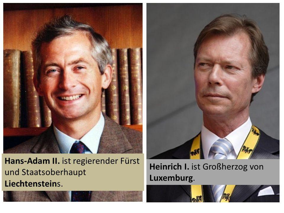 Hans-Adam II. ist regierender Fürst und Staatsoberhaupt Liechtensteins.