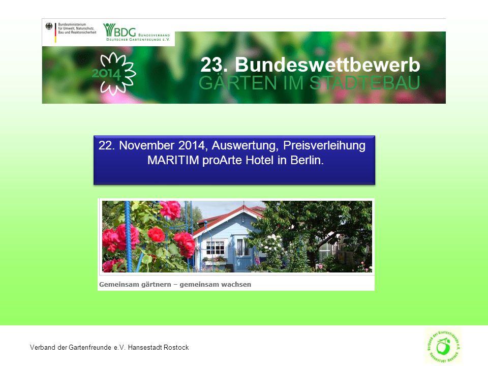 """Verband der Gartenfreunde e.V. Hansestadt Rostock Die Jury am 29.06.2014 in der KGA """"Dahlie e.V."""
