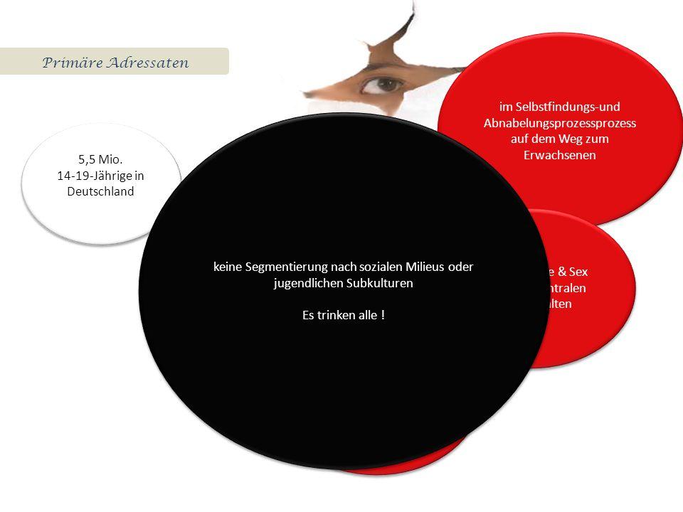 Primäre Adressaten 5,5 Mio.14-19-Jährige in Deutschland 5,5 Mio.