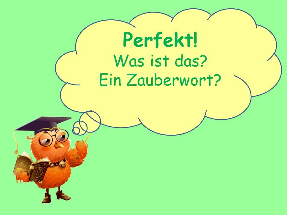 Perfekt! Was ist das? Ein Zauberwort?