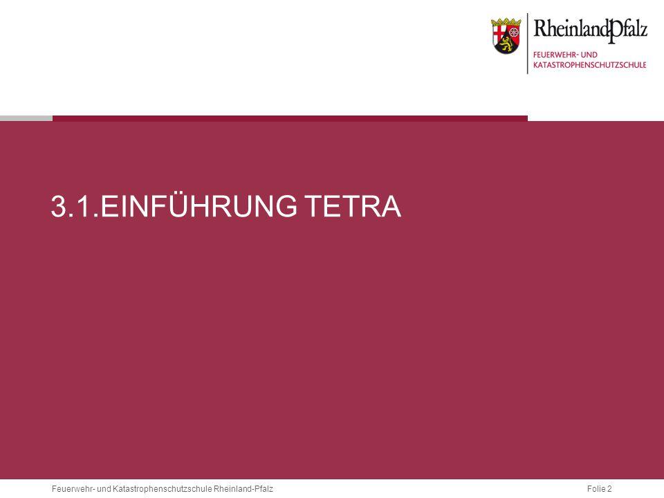 Folie 83Feuerwehr- und Katastrophenschutzschule Rheinland-Pfalz 3.4.5 VERSCHLÜSSELUNG Ähnlich SIM-Karte im Handy Enthält:  Netzzugangsberechtigung  Ende-zu-Ende-Verschlüsselung  OPTA Bildquellen: http://www.digitaler-bos-funk.de/tetra/BSI-Karte_a.jpg http://www.digitaler-bos-funk.de/tetra/BSI-Karte_b.jpg