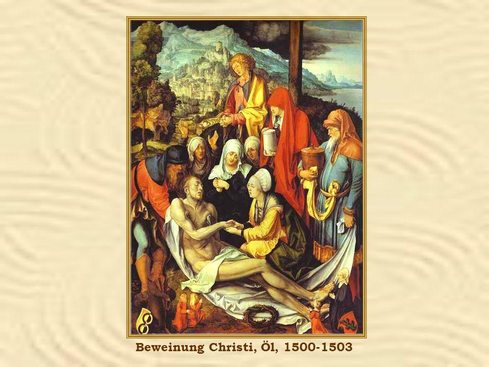 Beweinung Christi, Öl, 1500-1503