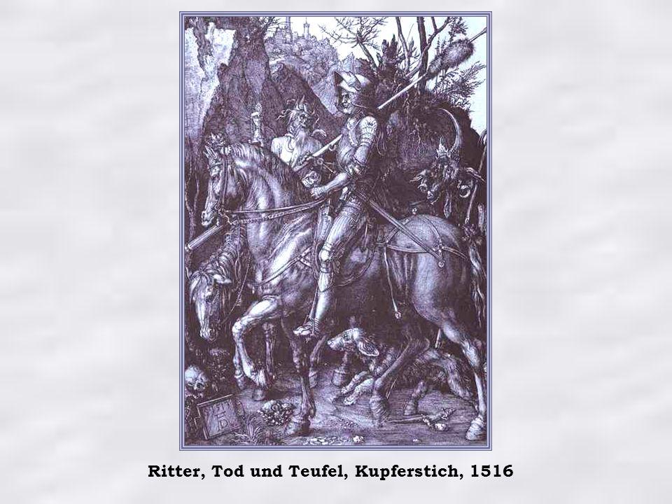 Ritter, Tod und Teufel, Kupferstich, 1516