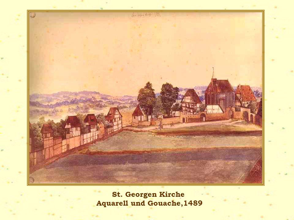 St. Georgen Kirche Aquarell und Gouache,1489