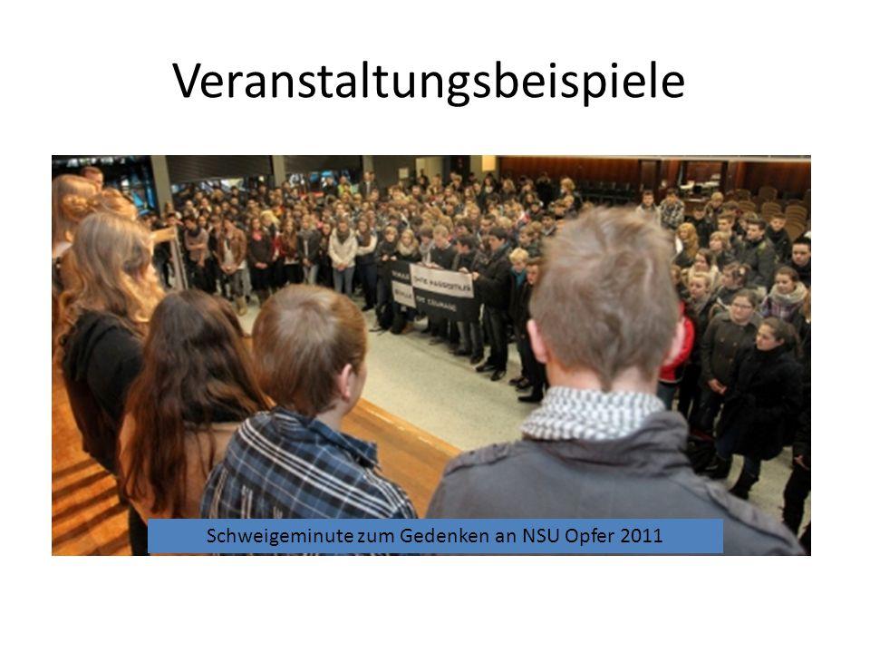 Veranstaltungsbeispiele Besuch des Aussteigers Manuel Bauer. Ausstellung zum Rechtsextremismus der Friedrich- Ebert Stiftung mit feierlicher Eröffnung