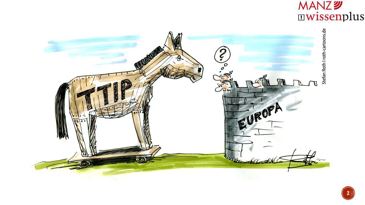 Abbau von Handelshemmnissen durch den …  Abbau von Zöllen und  Angleichung von Regulierungen Ziele: Dadurch sollen …  ein zusätzliches Wirtschaftswachstum von 0,5% in 10 Jahren (Europa: 119 Milliarden Euro, Amerika: 95 Milliarden Euro),  die Schaffung von 400 000 neuen Arbeitsplätzen in 15 Jahren (Vergleich: aktuell 27 Mio.