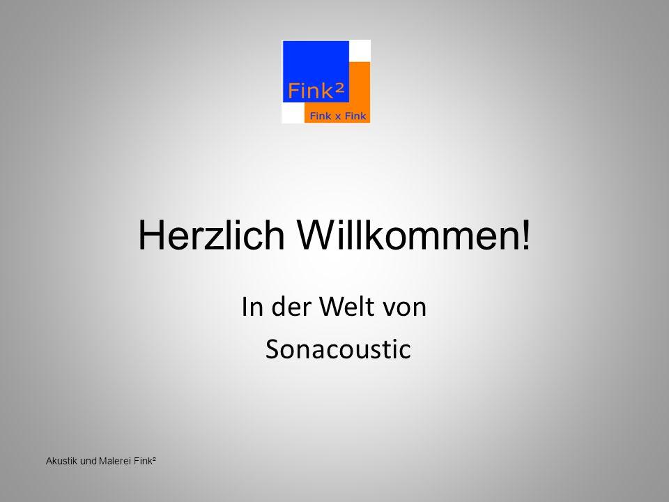 Herzlich Willkommen! In der Welt von Sonacoustic Akustik und Malerei Fink²