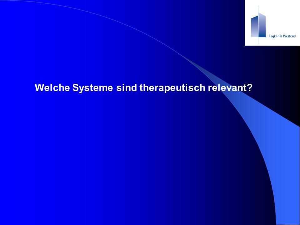 Welche Systeme sind therapeutisch relevant?