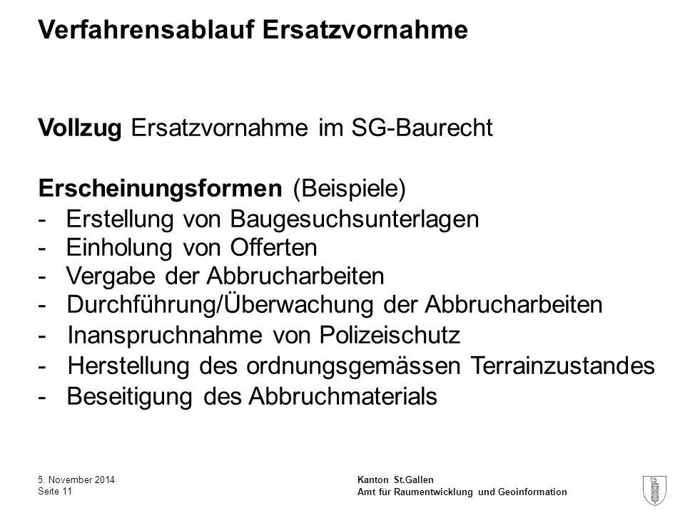 Kanton St.Gallen Verfahrensablauf Ersatzvornahme 5.